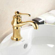 Design criativo Deck Monte Torneira Pia Do Banheiro Mixer toque Acabamento de Ouro papel de parede listrado(China (Mainland))