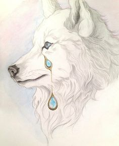 White Wolf with Opal Tears