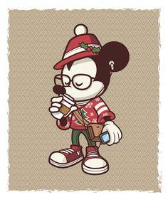 Holiday Hipster Mickey by Jerrod Maruyama, via Flickr WonderGround Galery