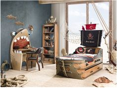 Pirate Bedroom Furniture components can add a contact of style and design to any residence. Pirate Bedroom Furniture can mean many issues to many individuals… Pirate Bedroom Decor, Loft Bedroom Kids, Pirate Bedding, Boys Bedroom Sets, Boys Bedroom Furniture, Kids Bedroom Designs, Kids Room Design, Bedroom Themes, Bedroom Ideas