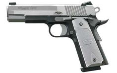 Sig Sauer 1911. Love this gun and love the silver classic look. Great gun to shoot at the range.