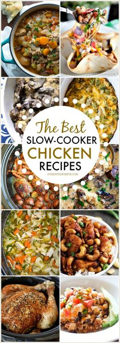 Slow Cooker Chicken Recipes that are super easy to make and delicious. You will just a few ingredients to make this Crock Pot chicken main dishes and soups. Pin it now and make them later!