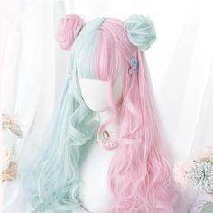 Pastel Wig, Rose Pastel, Pink Wig, Pelo Lolita, Lolita Hair, Kawaii Hairstyles, Bun Hairstyles, Pretty Hairstyles, Fashion Hairstyles