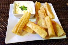 Yuca Frita from Gustazo Cuban Cafe in Belmont, MA.  http://www.hiddenboston.com/foodphotos/gustazo-cafe-yuca.html
