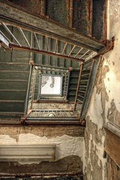 Staircase in an abandoned nursing home.