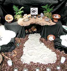 [Representing North] Altar of Extinction by the Reclaiming Tradition (my path - TB) for the California Grizzly Bear.  One of a series of altars for extinct species.  Simple large black cloth is effective and mournful.