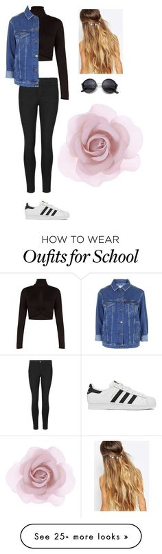 """""""So uh that damn Tommy kid goes to my school"""" by lilianamontijo on Polyvore featuring Accessorize, BCBGMAXAZRIA, Indigo Collection, Topshop, adidas, Johnny Loves Rosie, women's clothing, women's fashion, women and female"""