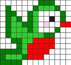 Little Bird Perler Bead Pattern Melty Bead Patterns, Hama Beads Patterns, Loom Patterns, Beading Patterns, Tiny Cross Stitch, Cross Stitch Designs, Cross Stitch Patterns, Perler Bead Art, Perler Beads