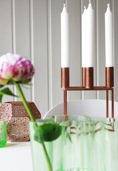 Idées déco d'intérieur pour la maison avec des accessoires en cuivre