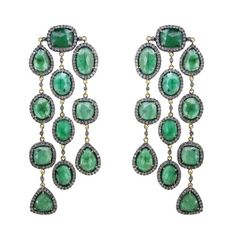 14K Gold Sterling Silver 41.88Ct Emerald Diamond Pave Designer Chandelier Earrings Vintage Style Jewelry Couturechics http://www.amazon.com/dp/B00FYRGN3W/ref=cm_sw_r_pi_dp_qDYlub1AF80JV