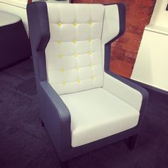 Our brand-new Synergy looks great upholstered onto this @allermuir chair