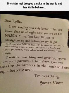 Funny pictures about Santa Claus Knows How To Make Threats. Oh, and cool pics about Santa Claus Knows How To Make Threats. Also, Santa Claus Knows How To Make Threats photos.