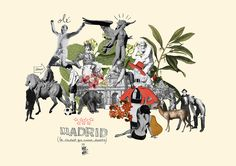Illustration for Madrid Souvenir Guide, a project trying to bring some nice art to the boring souvenir market. A bit of classic clichès from Spain´s capital city plus a bit of weird stuff.