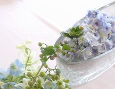 夏の水色 シェ松尾天王洲倶楽部さまの装花
