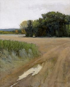 Fresh Field, Northampton, 10 x 8 inches, oil on panel by Marc Bohne. Oil Landscape Painting