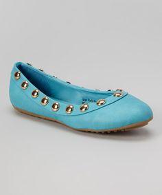 Loving this Aqua Studded Flat on #zulily! #zulilyfinds