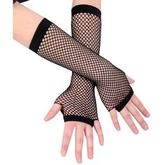 Amazon.com: Ayliss 2 Pairs Long+short Fishnet Gloves 8 Colors... ($5.99) ❤ liked on Polyvore featuring intimates