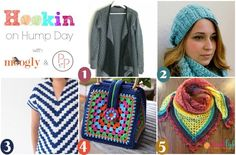 Hookin On Hump Day - get all these patterns on Moogly and Petals to Picots - and add your own links too! Crochet Bodycon Dresses, Crochet Blouse, Knit Or Crochet, Crochet Hats, Crochet Sweaters, The Happy Hooker, Crochet Winter, Fiber Art, Free Pattern