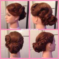 Coiffure haute avec tresses / Updo with braids Http//cmcoiffure.wix.