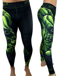 Hulk Leggings Superhero Yoga Pants Compression Tights S2 ...