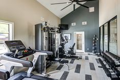 Work up a #sweat without having to leave the community in our #fitness center. #ReNewMcKinney #TX #Apartments #IAmRenewed