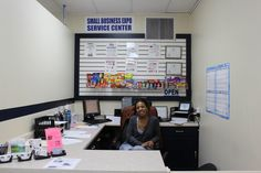 customer service desk. Find information, snacks, and other misc services like printing, faxing, and batteries!