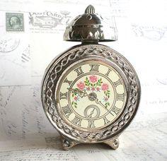 Vintage Perfume Bottle Clock Avon