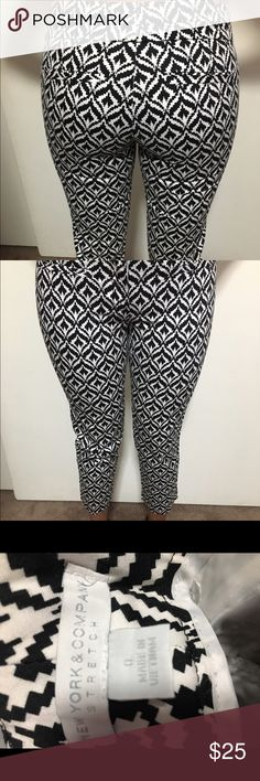 New York & company 0 used once slacks pants New York &a company xs new used once slacks pants for photoshoot black and white ankle New York & Company Pants Ankle & Cropped