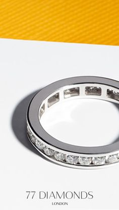 Our #eternity #rings are made in all type of metal so you can pick your style
