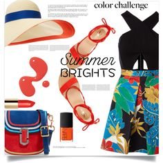 Summer brights by fantasticbabe on Polyvore featuring мода, Alice + Olivia, Vince Camuto, Marc Jacobs, Eugenia Kim, NARS Cosmetics, Oris and Hedi Slimane