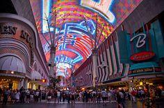 Fremont Street Experience in Las Vegas, Nevada. #hitpictures #fremontstreet #lasvegas #nevada #lights #landmarks #nationallandmarks