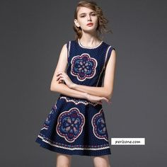 Short Dress, Basics, Round Collar