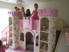 Girls Princess castle bunk bed with all of her Disney princess toys! Description from tumbledrose.com. I searched for this on bing.com/images