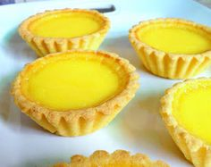 Chinese Egg Tart Recipe but make with puff pastry Tart Recipes, Baking Recipes, Asian Recipes, Oriental Recipes, Asian Foods, Chinese Egg Tart, Chinese Food, Dessert Drinks, Dessert Recipes