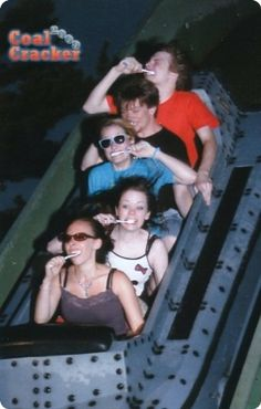good group picture in rollercoaster :)