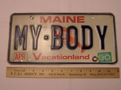 MY BODY LICENSE PLATE MAINE