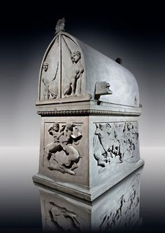 Paros Marble Lycian Sarcophagus from the end of the 5th Cent. B.C  from the Royal Necropolis of Sidon (lebanon), Chamber no IV. Istanbul Archaeological Museum