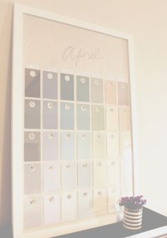 DIY Paint Swatch Wall Calendar