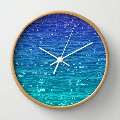 SEA SPARKLE Wall Clock by catspaws - $30.00