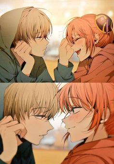 디모 on - Gintama - Anime Anime Love Couple, Manga Couple, Cute Anime Couples, Romantic Anime Couples, Anime Amor, Anime Lindo, Manga Anime, Anime Boys, Anime Art Girl