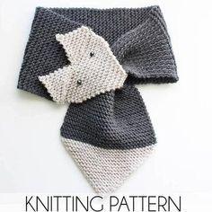 Cool children's scarf knitting patterns free free fox scarf knitting pattern by gina michele EISTCVT Beginner Knitting Patterns, Knitting For Beginners, Knit Patterns, Free Knitting, Knitting Projects, Baby Knitting, Loom Knitting, Knitting Ideas, Sweater Patterns