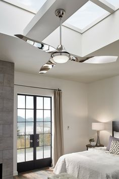 The 64u201d Avvo Max Indoor/outdoor Ceiling Fan By Monte Carlo Is Both Striking  And Graceful, Taking Center Stage In Modern Spaces Such As Living Rooms Or  ...