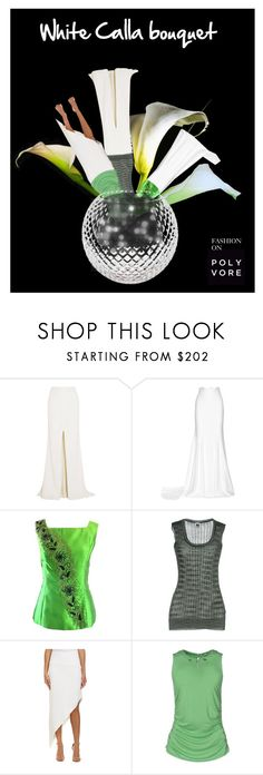 """White Calla bouquet"" by etsyynb ❤ liked on Polyvore featuring Rime Arodaky, M Missoni, Nicole Miller, Versace and Eightmood"