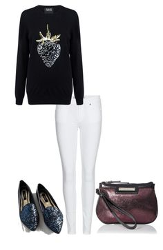 """A Little Sparkle"" by carlafashion-246 ❤ liked on Polyvore featuring moda, Burberry, Markus Lupfer y Nine West"