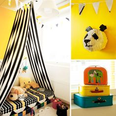 Vol 2 - Ruutupaperilla Jungle Theme, Toddler Bed, Kids Rooms, Children, Interior, Bedding, Spaces, Furniture, Yellow