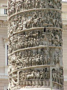 Detalle de la Columna de Marco Aurelio, Roma