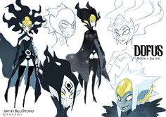 Dofus character design by Bill Otomo