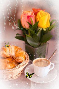 "Photo from album ""Доброе утро"" on Yandex. Good Morning Breakfast, Good Morning Coffee, Good Morning Gif, Good Morning Picture, Good Morning Wishes, Free Good Morning Images, Morning Pictures, Coffee Love, Coffee Art"