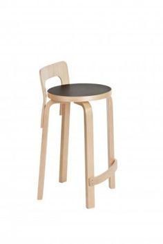 Mobilier Artek Alvar Aalto, chaise haute K65