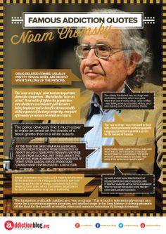"""The """"War on Drugs"""" Noam Chomsky Quotes. INFOGRAPHIC"""